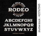 wild west typeface   retro... | Shutterstock .eps vector #425767045