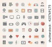 flat icons   entertainment | Shutterstock .eps vector #425769175