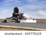 go kart racer outdoors with...   Shutterstock . vector #425770129