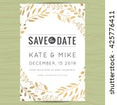 save the date wedding... | Shutterstock .eps vector #425776411