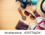 travel accessories for trip | Shutterstock . vector #425776624
