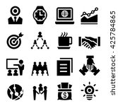 business icon set | Shutterstock .eps vector #425784865
