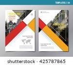 flyer leaflet brochure template ... | Shutterstock .eps vector #425787865