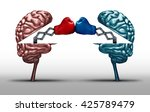 battle of the brains and war of ... | Shutterstock . vector #425789479