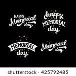 happy memorial day  text with... | Shutterstock . vector #425792485