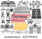 travel to germany doodle... | Shutterstock .eps vector #425796931