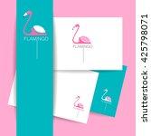 flamingo logo. identity... | Shutterstock . vector #425798071