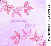 floral greeting card with... | Shutterstock .eps vector #425809531