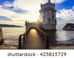 torre de belem   famous... | Shutterstock . vector #425815729