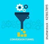 conversion funnel flat style... | Shutterstock .eps vector #425817895