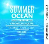 vector pool or ocean water...   Shutterstock .eps vector #425819815