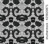 lace black seamless pattern... | Shutterstock .eps vector #425820871