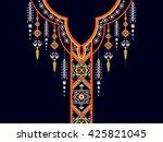 geometric ethnic oriental... | Shutterstock .eps vector #425821045