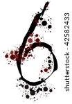 splattered number 6 | Shutterstock .eps vector #42582433
