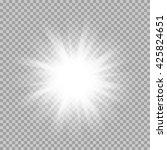 vector set of glowing light... | Shutterstock .eps vector #425824651