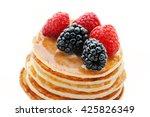 healthy breakfast.pancakes with ... | Shutterstock . vector #425826349