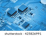 electronic circuit board close... | Shutterstock . vector #425826991