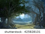 3d rendering of enchanted dark... | Shutterstock . vector #425828131