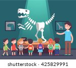 group of kids watching... | Shutterstock .eps vector #425829991