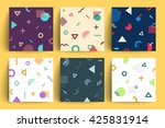 chaotic geometry backgrounds... | Shutterstock .eps vector #425831914