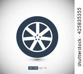 wheel icon   Shutterstock .eps vector #425835355