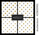 set of seamless pattern gold...   Shutterstock .eps vector #425835901