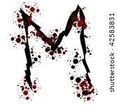 splatter letter m | Shutterstock .eps vector #42583831