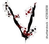 splatter letter v | Shutterstock .eps vector #42583858