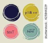 set of 4 different grunge... | Shutterstock .eps vector #425844229