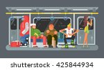 subway with people flat design | Shutterstock .eps vector #425844934