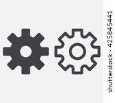 settings line icon  gear... | Shutterstock .eps vector #425845441