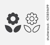flower line icon  outline and...