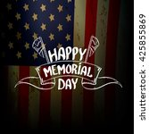 happy memorial day vector... | Shutterstock .eps vector #425855869