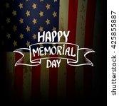 happy memorial day vector... | Shutterstock .eps vector #425855887