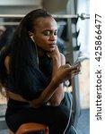 beautiful black young woman... | Shutterstock . vector #425866477