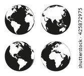 earth globe revolved in four...   Shutterstock .eps vector #425872975