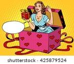 valentine girl love romantic... | Shutterstock . vector #425879524