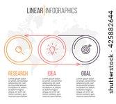 business infographics. timeline ... | Shutterstock .eps vector #425882644