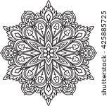 abstract vector round lace... | Shutterstock .eps vector #425885725