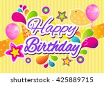 birthday. | Shutterstock .eps vector #425889715