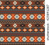 ethnic boho seamless pattern... | Shutterstock .eps vector #425891287