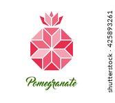 symbol of pomegranate  vector... | Shutterstock .eps vector #425893261