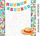 festa junina illustration  ... | Shutterstock .eps vector #425894281