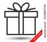 gift flat icon. gift box logo....
