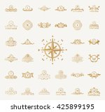 luxury vintage crest royal logo ... | Shutterstock .eps vector #425899195