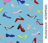 vector illustration of woman... | Shutterstock .eps vector #425899681