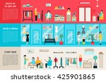 shopping center and boutique... | Shutterstock .eps vector #425901865