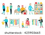 vector shopping and shipping... | Shutterstock .eps vector #425903665