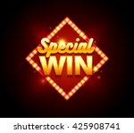 gambling sign with lamp special ... | Shutterstock .eps vector #425908741