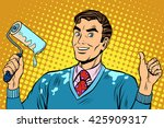 man repair paint | Shutterstock . vector #425909317